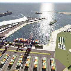 Area Portuaria Petrolera Industrial: Cavas de estilo industrial por GARBO Arquitectos