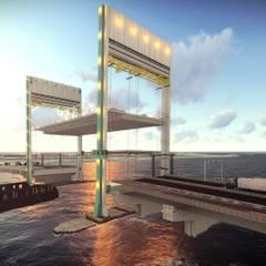 Nuevo Puente Levadizo Propuesta 2: Cavas de estilo industrial por GARBO Arquitectos