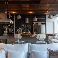 Apto 360 por Nautilo Arquitetura & Gerenciamento Industrial Madeira maciça Multi colorido