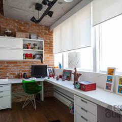Study/office by Nautilo Arquitetura & Gerenciamento, Industrial Bricks
