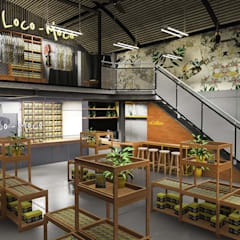 Retail Area lantai 1 A:  Ruang Komersial by ARAT Design
