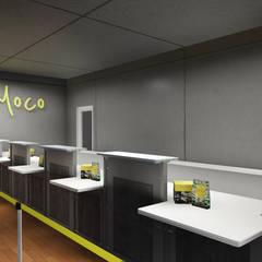 Cashier Area lantai 1 B:  Ruang Komersial by ARAT Design