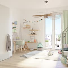 Greenside: City apartments, close to nature Modern nursery/kids room by JLL Residential Development Modern