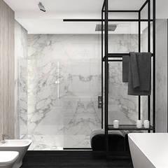 NOTHING VENTURED, NOTHING GAINED   II   Wnętrza domu: styl , w kategorii Łazienka zaprojektowany przez ARTDESIGN architektura wnętrz
