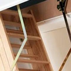Katlanır Çatı Merdivenleri – Ahşap Çatı Merdivenleri Montajı:  tarz Merdivenler