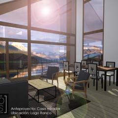 CASA MIRADOR: Livings de estilo  por Pro Aus Arquitectos