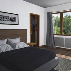 CASA M-M: Dormitorios de estilo  por Pro Aus Arquitectos