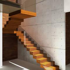 Casa de Campo  - ITU: Escadas  por AM arquitetura e interiores
