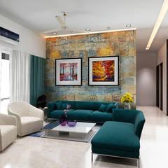 Living room by Neelanjan Gupto Design Co