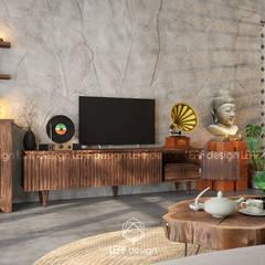 Projekty,  Salon zaprojektowane przez LEAF Design