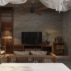 Projekty,  Sypialnia zaprojektowane przez LEAF Design