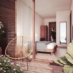 Habitación Del Hotel: Hoteles de estilo  de Noëlla Aoun Design Studio