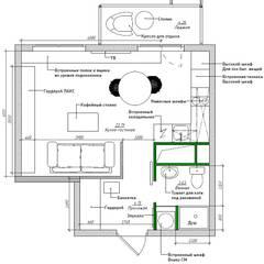 Мятный кофе: Стены в . Автор – CO:interior