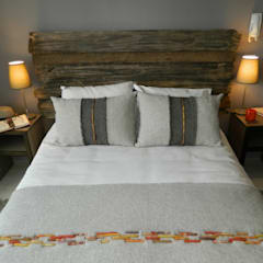 Bedroom by DDO Diseño, Rustic Wood Wood effect