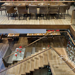 Resturant Staircase :  Commercial Spaces by Bisca Staircases