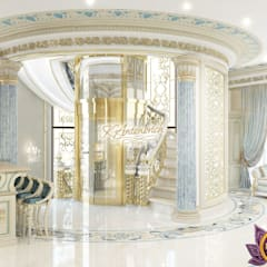 ​Architectural designs for homes by Katrina Antonovich:  Corridor & hallway by Luxury Antonovich Design,