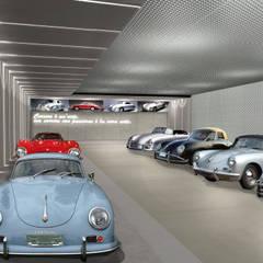 Autorimessa Privata: Garage/Rimessa in stile  di Gianfranco Sangalli Architetti