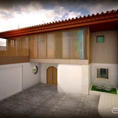 casa A por Emprofeira - empresa de projectos da Feira, Lda. Rústico Granito