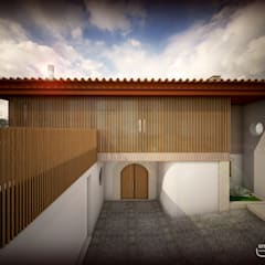 casa A por Emprofeira - empresa de projectos da Feira, Lda. Rústico Madeira Acabamento em madeira