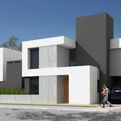 110GON: Casas unifamiliares de estilo  por JAMStudio,Minimalista