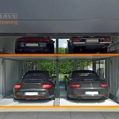 MultiBase 2072 Jüchen, Alemania: Garajes de estilo  por KLAUS MULTIPARKING COLOMBIA