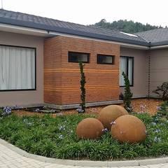 Manantiales de la Acuarela: Casas campestres de estilo  por Espacios Positivos