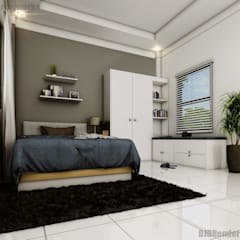 Bedroom Interior Design:  Bedroom by DJD Visualization and Rendering Services