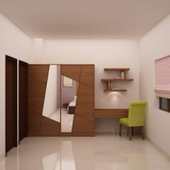 Wardrobe and Study table: modern Bedroom by NVT Quality Build solution