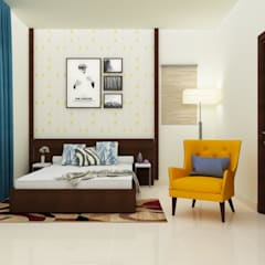Guest bedroom with seating : modern Bedroom by NVT Quality Build solution