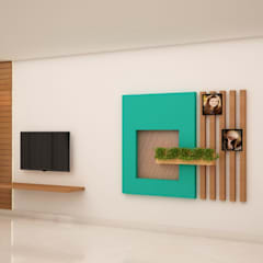 TV unit and Display area: modern Media room by NVT Quality Build solution