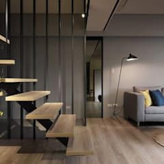 在休閒風設計中傾聽生活、感受溫度  :  樓梯 by 星葉室內裝修有限公司