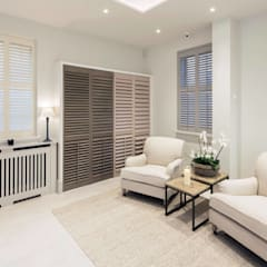 Plantation Shutters Ltd Showroom Makeover:  Exhibition centres by Plantation Shutters Ltd