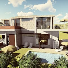 Casa Moncada: Casas ecológicas de estilo  por Arquitectura su c