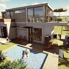 Casa Moncada: Casas de madera de estilo  por Arquitectura su c, Clásico Concreto
