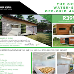Modular Homes for Sale:  Prefabricated home by Umnyama Ikhaya