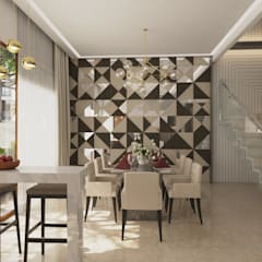 Dinning Area: Modern Dining Room By NVT Quality Build Solution