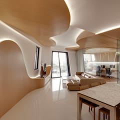 Landscape Apartment at D'leedon:  Dining room by Lim Ai Tiong (LATO) Architects,Modern