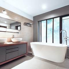 Master bathroom: modern Bathroom by Nomad Office Architects 覓 見 建 築 設 計 工 作 室