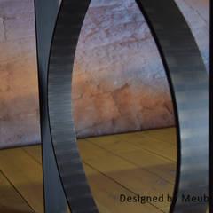 Stalen tafelonderstel Tjonger:   door Meubelpassie, Industrieel IJzer / Staal