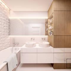Eco Apartament: styl , w kategorii Łazienka zaprojektowany przez 4 kąty a stół 5 Pracownia Projektowa Ewelina Białobrzewska