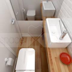 Remodelação de Apartamento em Alfama, Lisboa: Casas de banho  por spacelovers