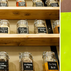 Particolari dei prodotti sfusi in vendita : Spazi commerciali in stile  di Rifò