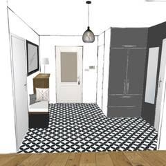 Ambiance du futur hall d'entrée: Couloir et hall d'entrée de style  par SUR MESURE