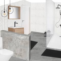 Ambiance de la future salle de bains: Salle de bains de style  par SUR MESURE