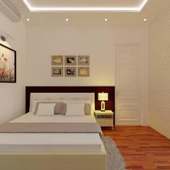 Không Gian Trẻ Trung Trong Thiết Kế Nhà Ống 3 Tầng Hiện Đại:  Phòng ngủ by Công ty TNHH Xây Dựng TM – DV Song Phát,