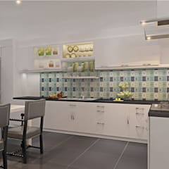 Cảm Hứng Tươi Mới Trong Thiết Kế Nội Thất Cho Nhà Phố Hiện Đại:  Tủ bếp by Công ty TNHH Xây Dựng TM – DV Song Phát,