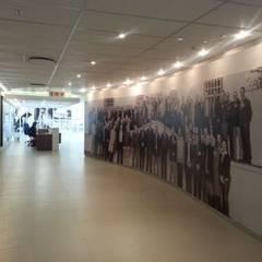 B &W photo of a corporate company:  Corridor & hallway by Custom Art Framing (Pty) ltd