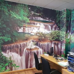 Printed wallpaper in motor dealership:  Study/office by Custom Art Framing (Pty) ltd