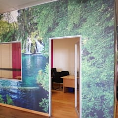 Printed wallpaper:  Study/office by Custom Art Framing (Pty) ltd