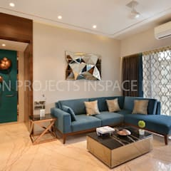2Bhk Residence -1: modern Living room by icon projects inspace pvt ltd